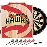 Trademark Gameroom NBA7010-AH2 NBA Dart Cabinet Set with Darts & Board - Fade - Atlanta Hawks