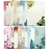 Total 60PCS Writing Paper Letter Set (40 stationery Papers + 20 Envelopes) 10 Different Color Ink Painting Classic Vintage Antique Design