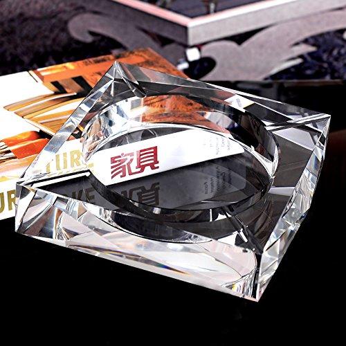 灰皿 クリスタル ガラス スクエア 高級 アッシュトレイ おしゃれ灰皿 透明 18cm OSONA B01HI2W0YQ 18cm|透明 透明 18cm