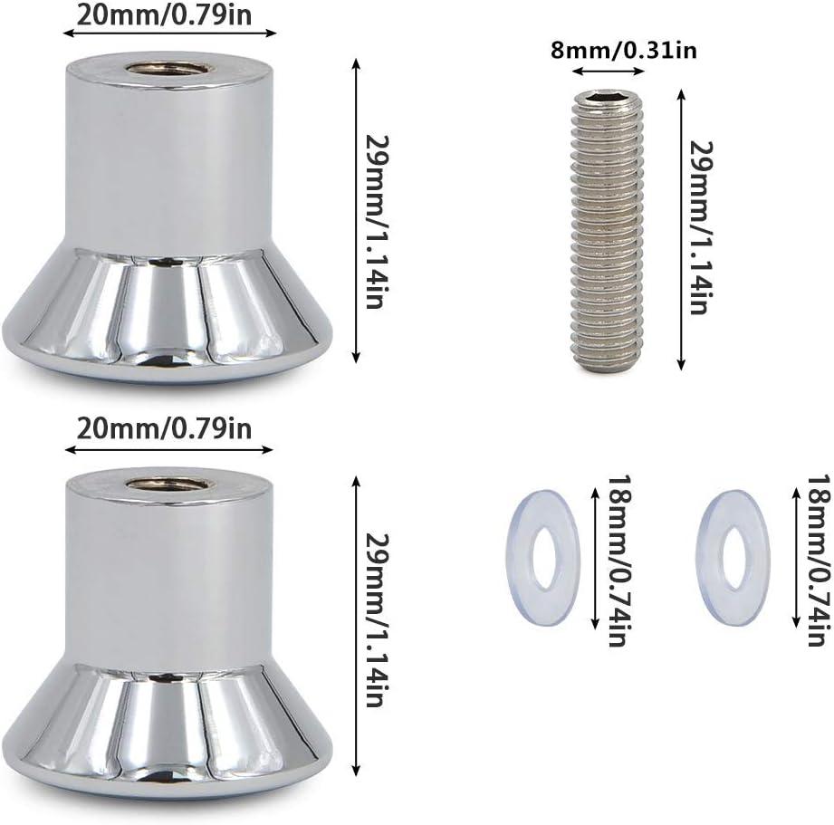 Lega di Alluminio Maniglia per Porta Guarnizioni con Base Doccia cromata 2 Pezzi FOROREH Pomello per Porta Pomello per Porta Manopola per com/ò Maniglia in Lega di Alluminio Cromo
