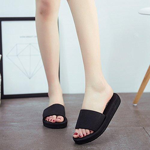 TMKOO 2017 nouvel été de la mode féminine glisser à fond épais mot plat avec des sandales en mousse et des pantoufles sandales antidérapantes