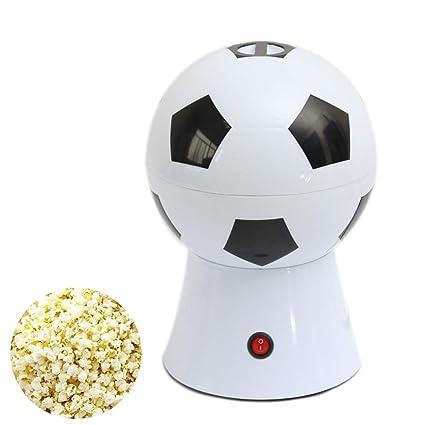 DWhui Estilo de fútbol Máquina de Palomitas de maíz eléctrica para el hogar Maquina de Hacer