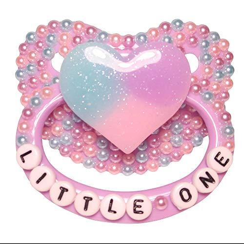 "Baby Bear Pacis Adult Pacifier /""Tiny Princess/"" Purple Bear Adult Paci DDLG//ABD"