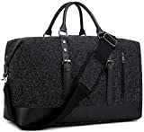 BLUBOON Weekender Overnight Bag Business Travel Duffle Bag for Men Womens Carry On Tote Bags (black)