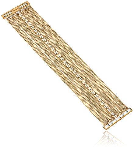 Baguette Gold Tone Bracelet - Michael Kors Gold Tone Baguette Fringe Statement Bracelet, 7