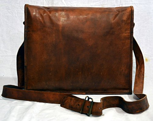 Messenger of Leather Vintage Leather Laptop Bag, Messenger Bag. 11'' x 15'' x 3.5'' by Messenger of Leather (Image #4)