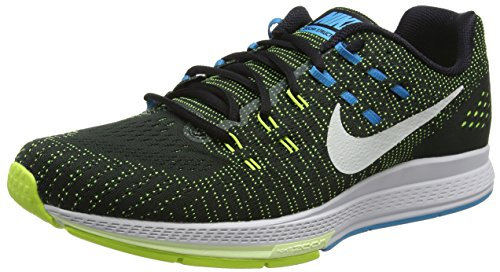 Nike Mens Air Zoom Structure 19 Running Shoes (12, Black/...