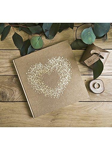 Livre dor kraft avec coeur dor/é 22 pages
