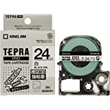 キングジム テープカートリッジ テプラPRO 強粘着 24mm SS24KW 白
