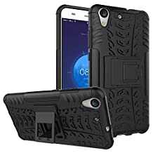 Huawei Y6 II Shockproof Case, Honor Holly 3 Hybrid Case, Dual Layer Shockproof Hybrid Rugged Case Hard Shell Cover with Kickstand for 5.5'' Huawei Y6 II,Huawei Honor Holly 3