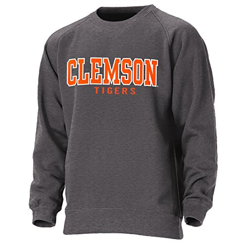 Ouray Sportswear NCAA Clemson Tigers Mens Crewneck Sweatshirt, Graphite, Medium