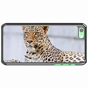 iPhone 5C Black Hardshell Case leopard lying predator Desin Images Protector Back Cover