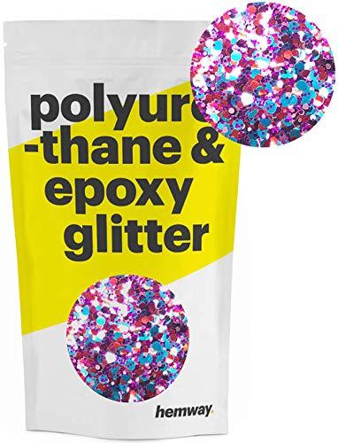 Hemway | Mixed Chunky Polyurethane & Epoxy Glitter - Harlequin Mix with Rose Gold / -