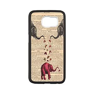 Chaap And High Quality Phone Case For Samsung Galaxy S6 -Animal Elephant Pattern-LiShuangD Store Case 3