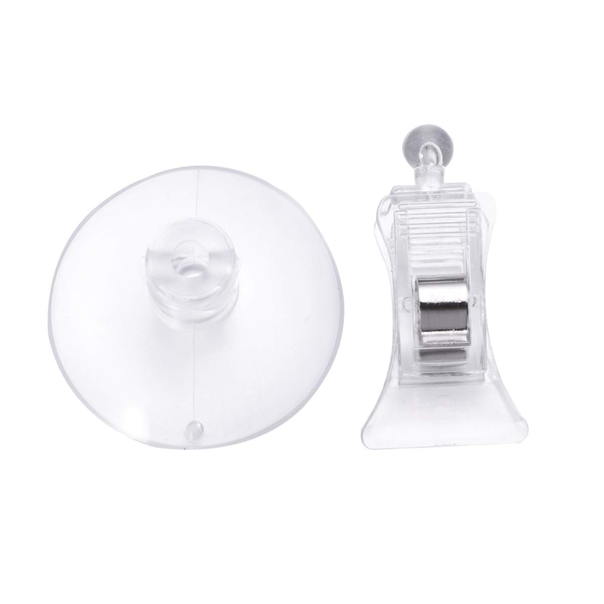 Balacoo 3pcs Fishes Veggie Seaweed Suction Cup Clip Clear Waterproof Feed Holder Feeding Tool for Fish Tank Aquarium Accessories