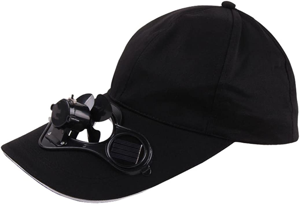 Creazy Camping Hiking Peaked Cap with Solar Powered Fan Baseball Hat Cooling Fan Caps