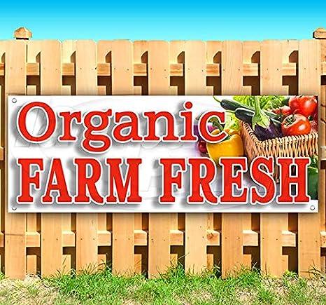 FARM FRESH VEGETABLES ORGANIC Advertising Vinyl Banner Flag Sign Many Sizes USA