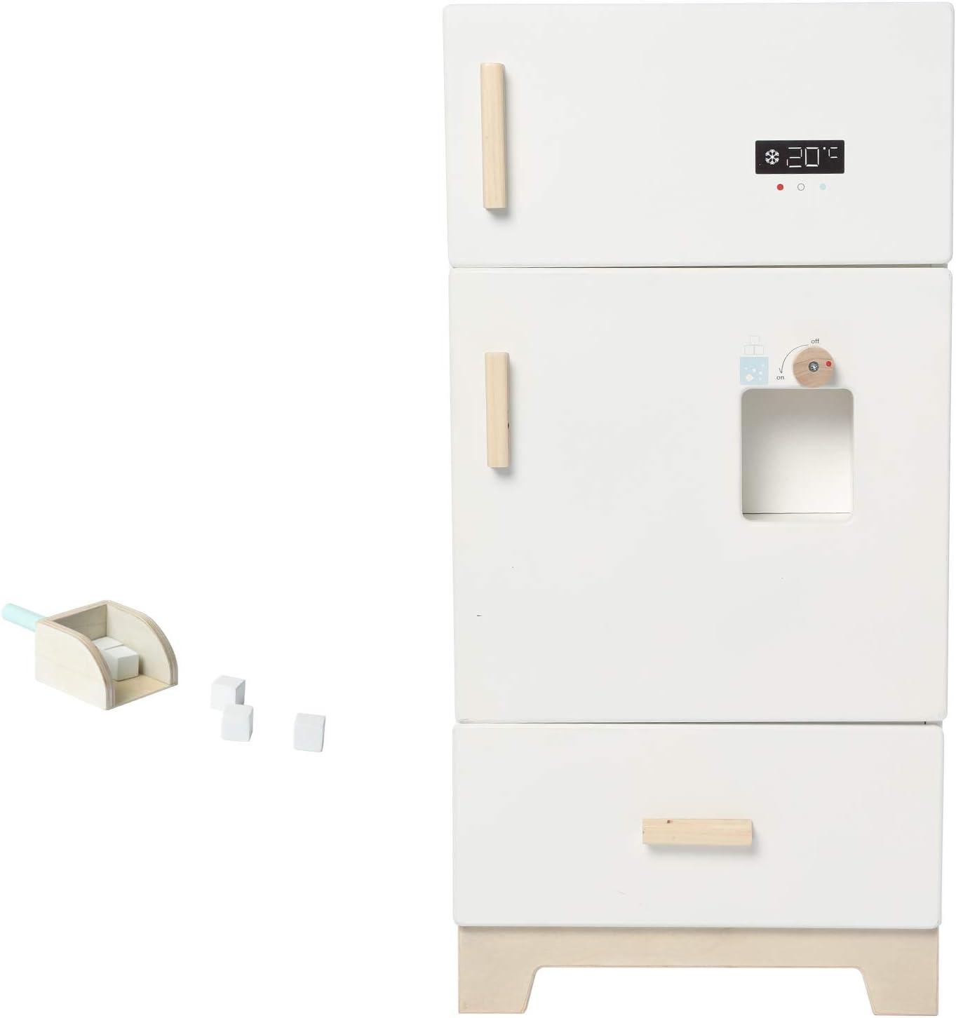 labebe - Kitchen Wooden Fridge | Fridge Freezer for Toddlers, Kids' Kitchen Playset Toy, Baby Cabinet Refrigerator Pretend Play Furniture White for Children Boy & Girl(15.8