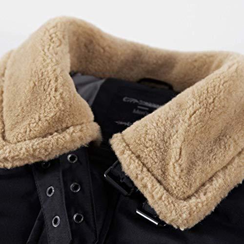 Coat Autunno Colori Abiti Libero Maniche Pilot Comode Uomo Giacche Lunghe Giubbotto Taglie Moda Caldo Bomber Inverno Schwarz Risvolto Tempo Jacket Solidi 4HaTq5