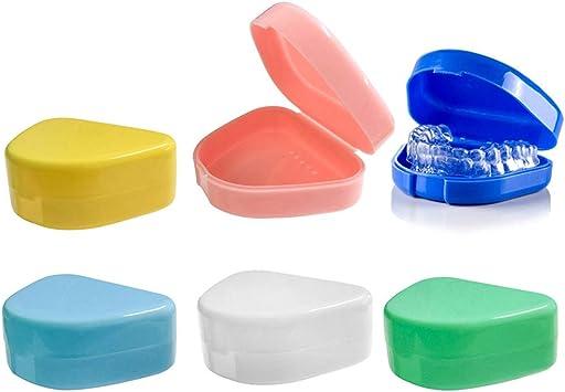 6pcs Caja de retención de ortodoncia delgada con orificios de ventilación, Caja de contenedores de almacenamiento de prótesis Estuche dental para retenedores de ortos Deportes: Amazon.es: Salud y cuidado personal