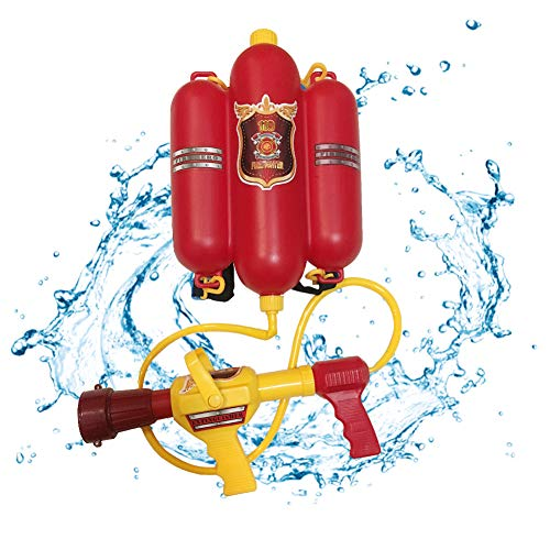 (Ancaixin Firefighter Water Blaster Kids Firemen Squirt Guns Backpack Soaker Summer Beach Fight Pool Toy Outdoor for Boys and)