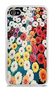 Flowers Floating Away White Silicone Case for iPhone 4 / 4S