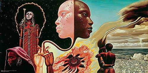 Miles Davis- Bitches Brew Album Art Poster by Mati Klarwein 36 x 18in