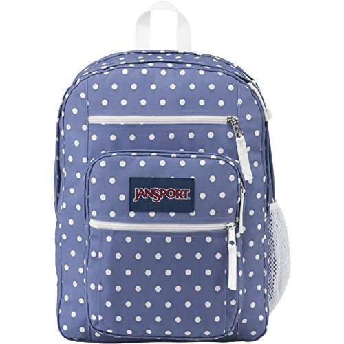 JanSport Big Student Backpack- Sale Colors (Bleached Denim / White Dot) (Oversized Jansport Backpack)