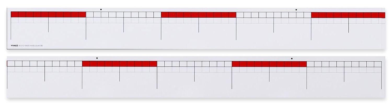 200 cm x 11 cm wei/ß//rot Betzold  85019 Nummer Zeile bis 100