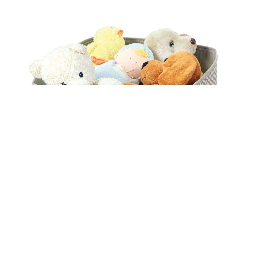 mDesign – Preciosa caja organizadora de tela – Caja de almacenaje de color gris pardo y