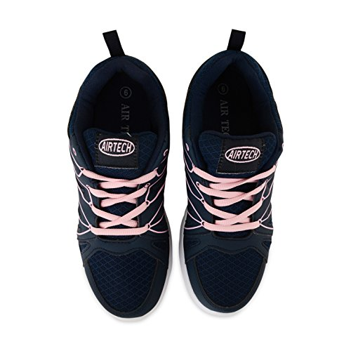 Womens Pink Trainers Circuit Shoe Girls Absorbing Jogging Trainer Fitness Navy Shock Gym Running 17P1Wrn
