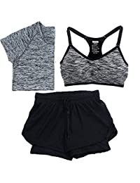 HRQWSDQDS Women's Fitness Jogging Yoga Set