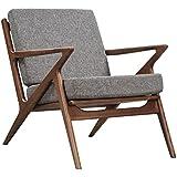 NyeKoncept 224480-B Cloud Gray Zain Chair, Walnut