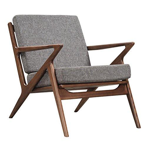 NyeKoncept 224480-B Cloud Gray Zain Chair, Walnut from NyeKoncept