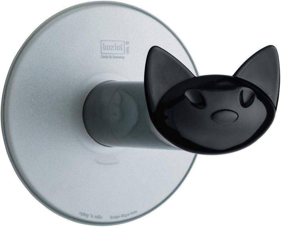 koziol d/évidoir papier WC Plug n`Roll thermoplastique 13,5 x 13 x 13 cm turquoise transparent