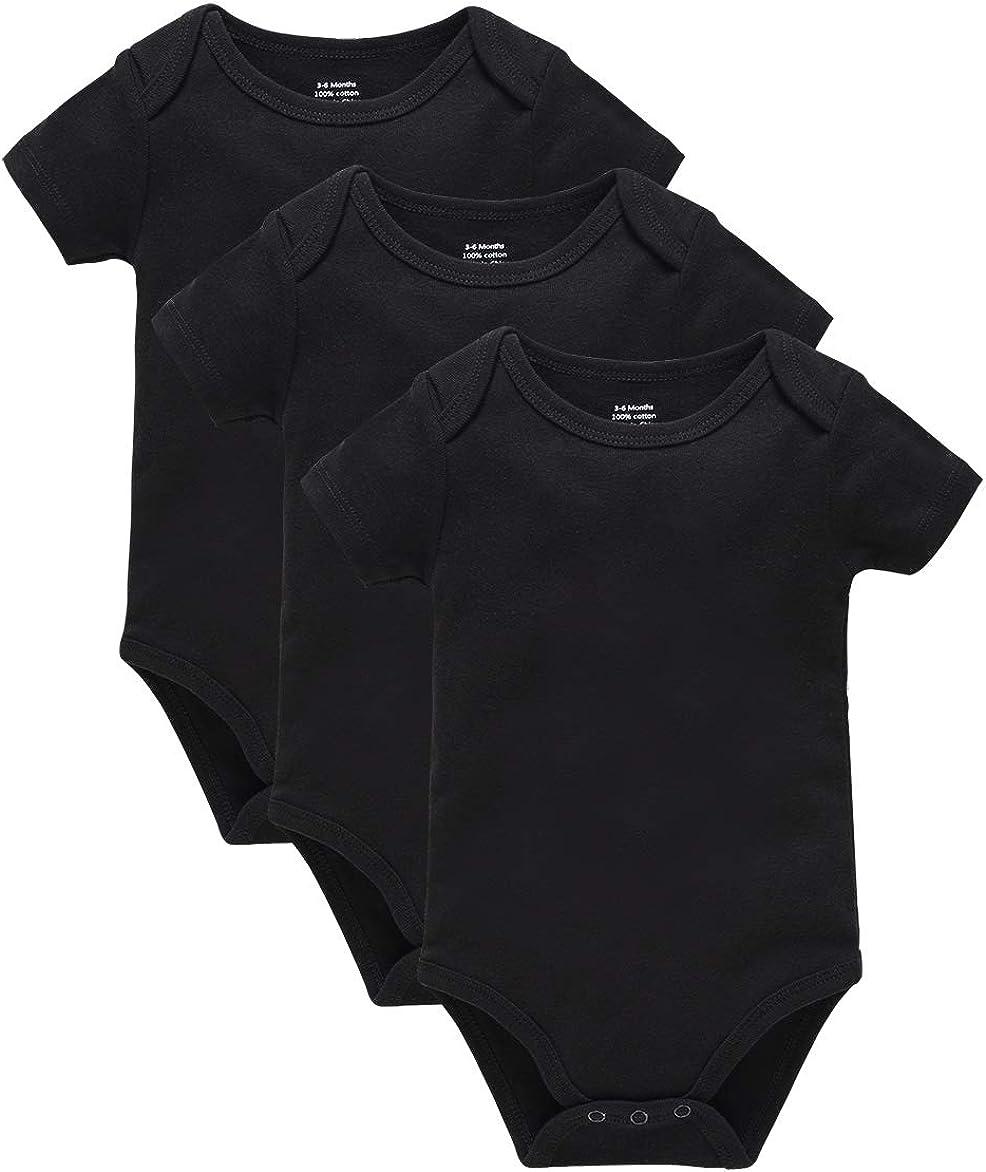 0-24 Months kavkas Baby Short Sleeve Bodysuit Newborn Soft Cotton Onesies Undershirts Pack of 3