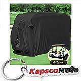 Waterproof Superior Black Golf Cart Cover Covers Club Car...