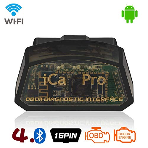 TERMALY OBD-II Scanner,Car Fault Diagnostic,Support Bluetooth/WiFi,Full Protocol Coverage of More Than 96% of Insomnia Petrol Cars, Suitable for Android/Apple Phones, Support Automatic Sleep,A