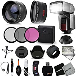 Premium 58mm Accessory Kit for CANON EOS 7Rebel T6i T6 T5i T5 T4i T3i T3 T2i SL1, EOS 80D, 750D 700D, 1200D, 1100D, 70D, EOS 60D EOS Mark II, EOS 7D 6D 5D, 5d Mark III,EOS 650D 600D 550D DSLR Cameras - Includes: 58MM High Definition Wide Angle Lens with M