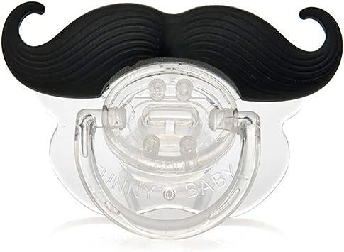 xiton Funny Black Silicona Color blanco Bebé bigote Forma chupete pezones 5.2 * 3.2cm Barba nera: Amazon.es: Bebé