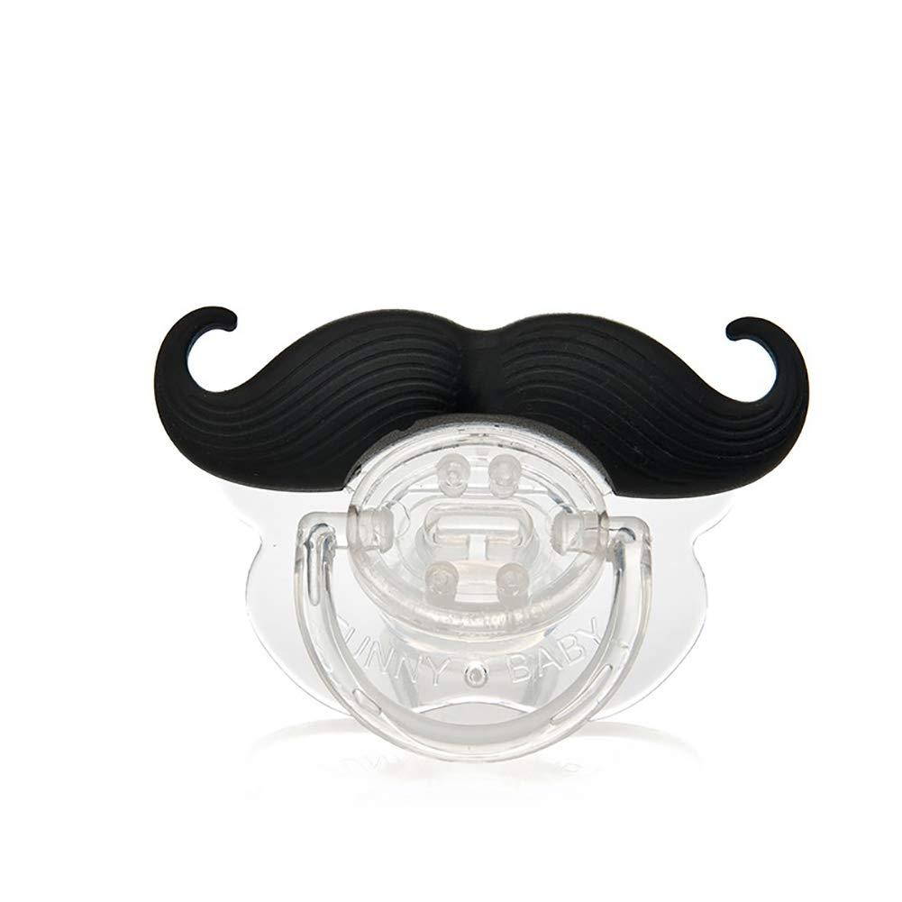 Funny Black silicone sucette bébé enfant tétine tétine moustache barbe (tombantes barbe) Snner