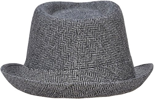 3eee051eb499 Simplicity Adult Feather Trilby Wool Fedora Hats, Black/Charcoal | Hat  Outlet Sale