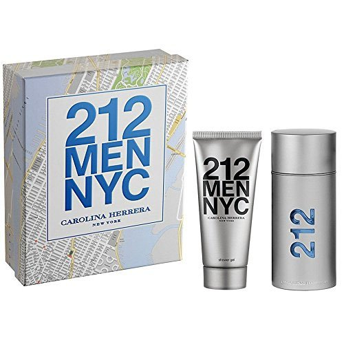 Carolina Herrera 212 2 Piece Men Gift Set, 3.4 Ounce (2 Set Piece Cologne)