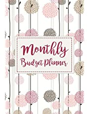 Monthly Budget Planner: Expense Finance Budget By A Year Monthly Weekly & Daily Bill Budgeting Planner And Organizer Tracker Workbook Journal   Happy Floral Design