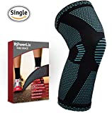 PowerLix Athletics Knee Brace Compression Sleeve Support For Running, Jogging, Sports, Basketball, Joint Pain Relief, Arthritis And Injury Recovery, Improved Circulation – Single Wrap