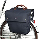 Tourbon Waterproof Canvas Bike Pannier Bag Folding Bicycle Rear Seat Trunk Bag ( Roll-up , Double )