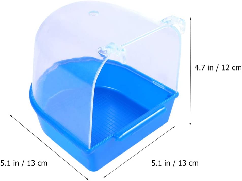 Balacoo Bird Bath Tub Parrot Bath Box Water Adding With Funnel for Bird Peony Bird Parrot Cleaning Shower Supplies Box Above Hole