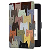 Huasiru Painting Case for Kindle Paperwhite, Cats - fits All Paperwhite Generations Prior to 2018 (Will not fit All-New Paperwhite 10th Generation)