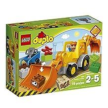 LEGO DUPLO Town 10811 Backhoe Loader Building Kit (19-Piece)