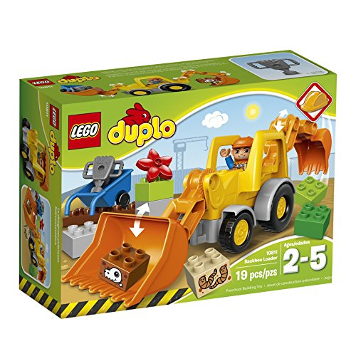 LEGO DUPLO Town Backhoe Loader 10811, Preschool, Pre-Kindergarten Large Building Block Toys for Toddlers